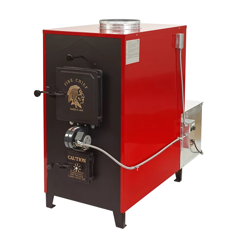 Fire Chief 150,000 BTU Indoor Wood Coal Burning Forced Air