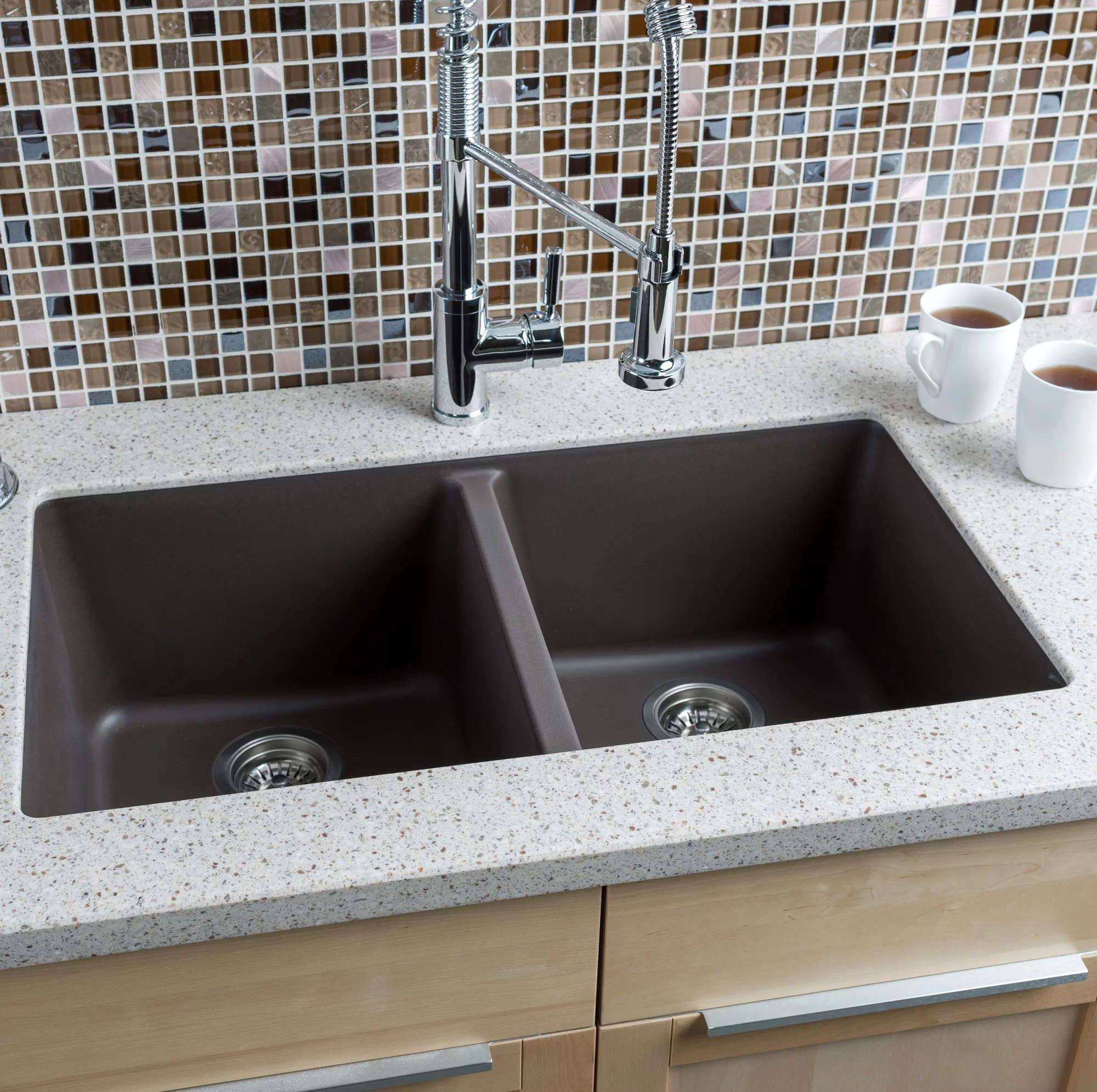 extra large kitchen sinks double bowl designs of small modular hahn 33 quot x 18 5 granite