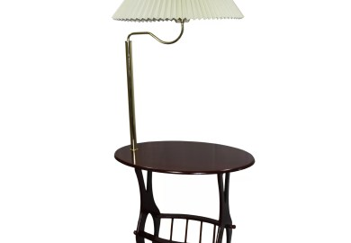 Floor Lamp With Table And Magazine Rack