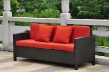 Barcelona Wicker Resin Aluminum Outdoor Patio Sofa With