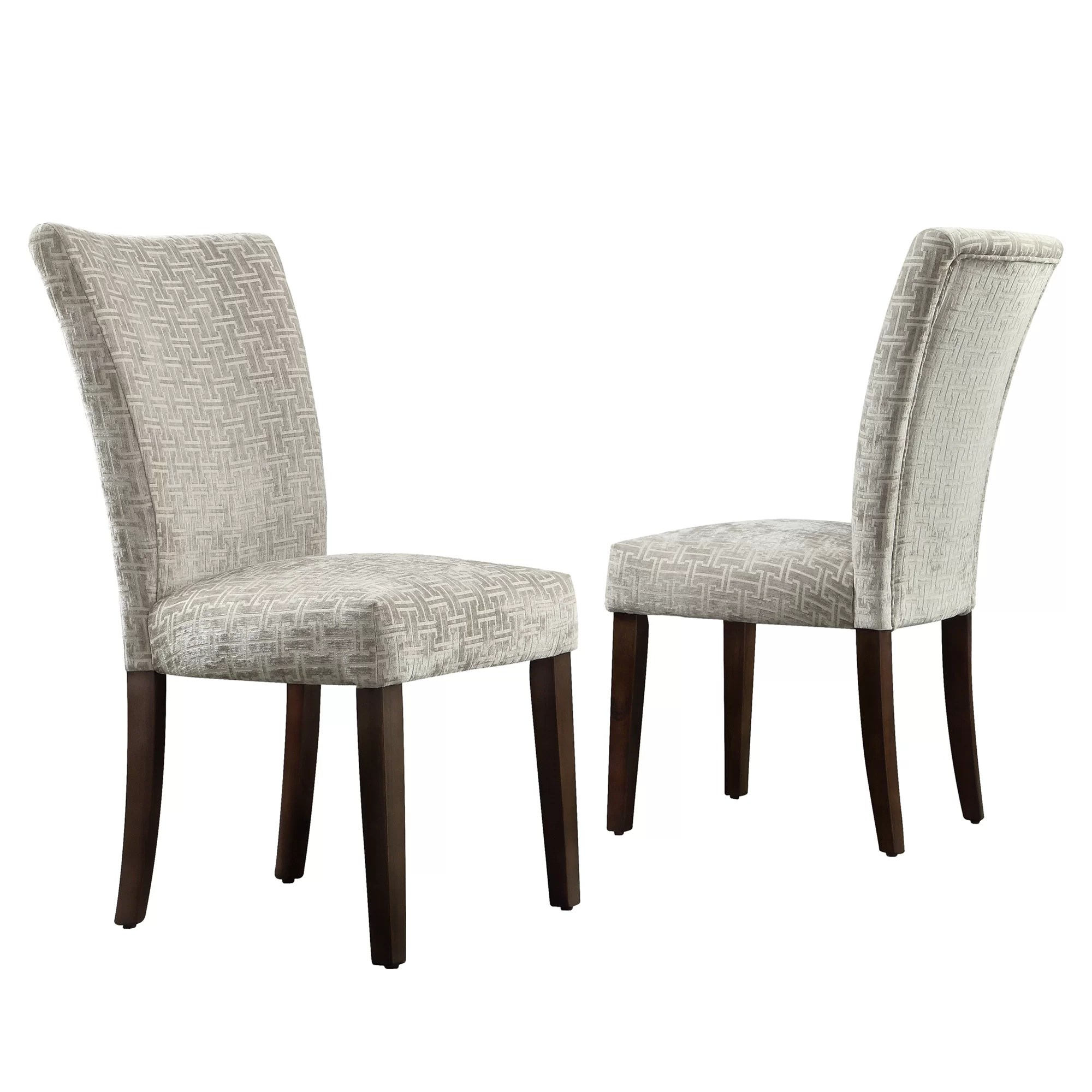 Print Parsons Chair Kingstown Home Wingston Link Print Parson Chair Set Of 2