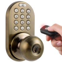Milocks Keyless Electronic Door Knob with Remote | eBay