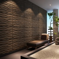 threeDwall Dunes Brick Paintable Panel Wallpaper Set of 6