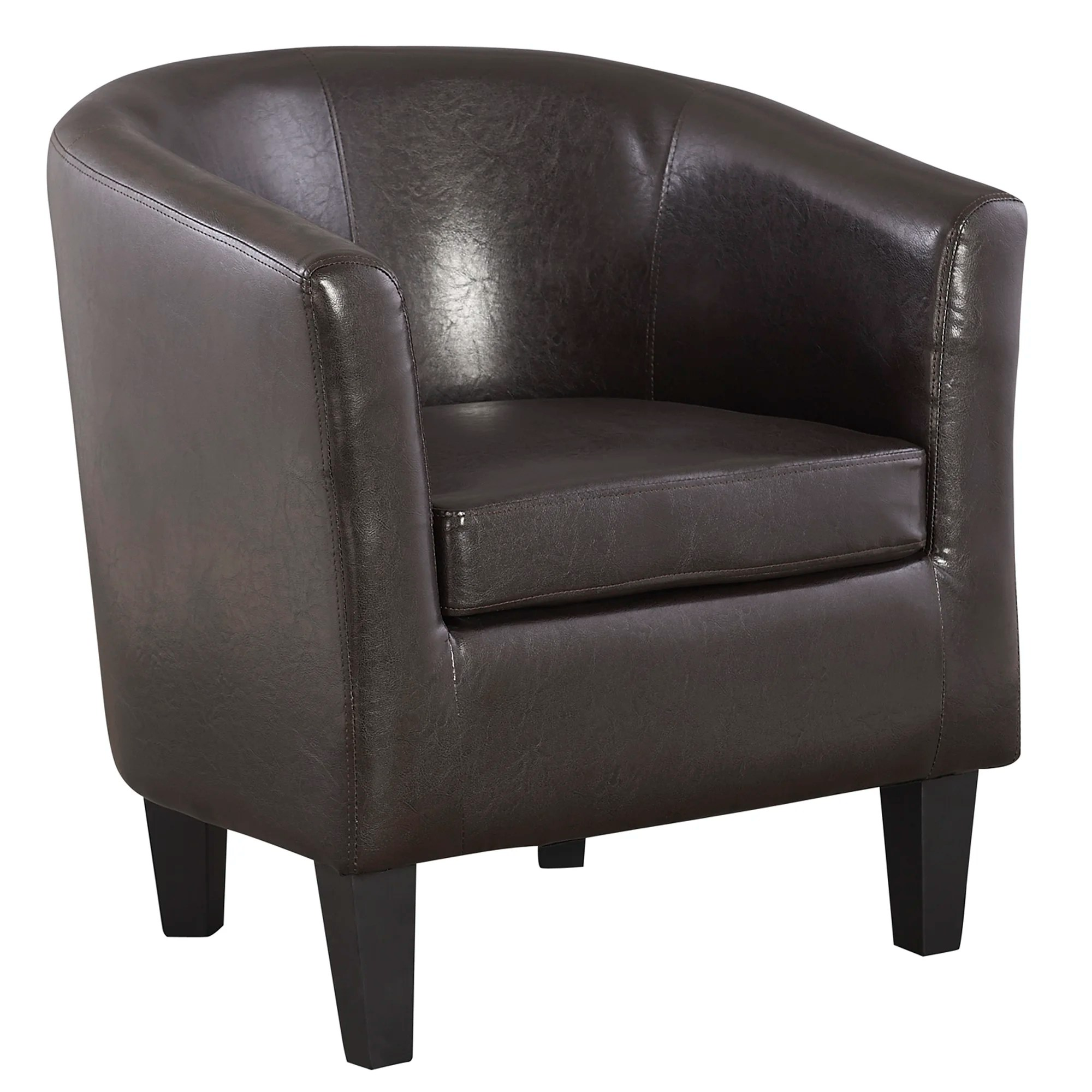 Black Barrel Chair Homestead Living Lateal Leather Barrel Chair Ebay