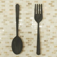 Word Billy 2 Piece Fork and Spoon Wall Dcor Set | eBay