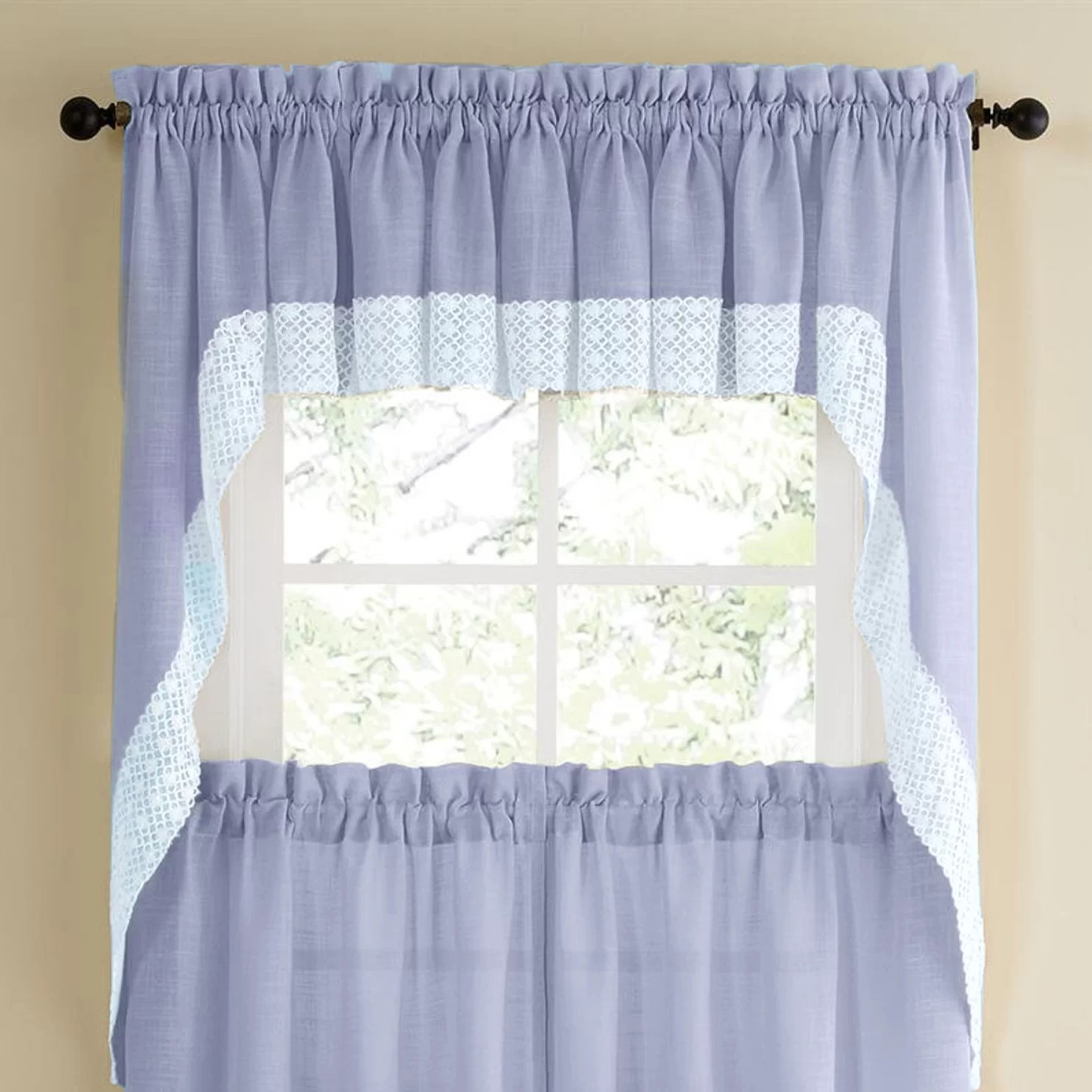 Sweet Home Collection Salem Kitchen Swag Curtain Valance