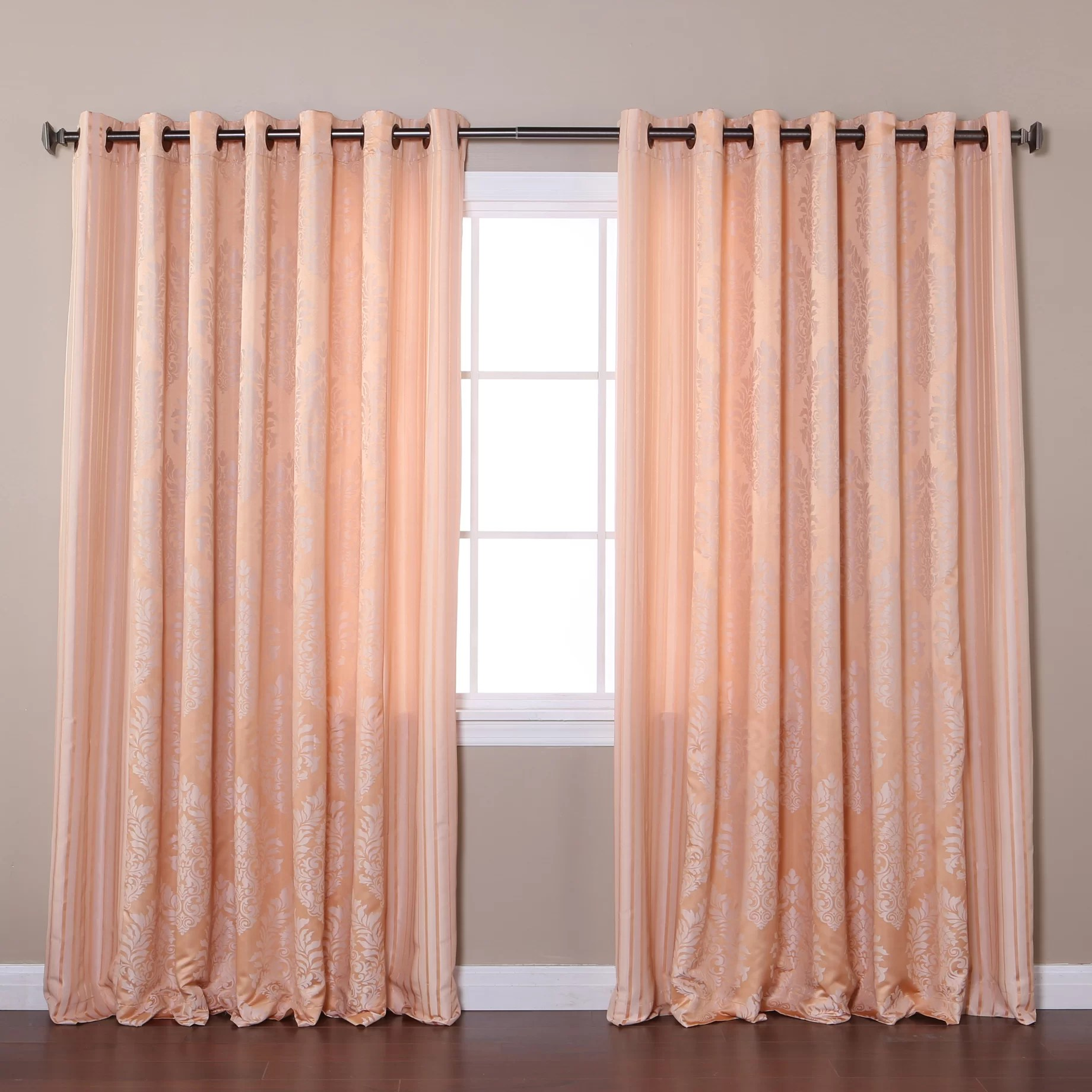 Best Home Fashion, Inc Wide Width Damask Jacquard Grommet