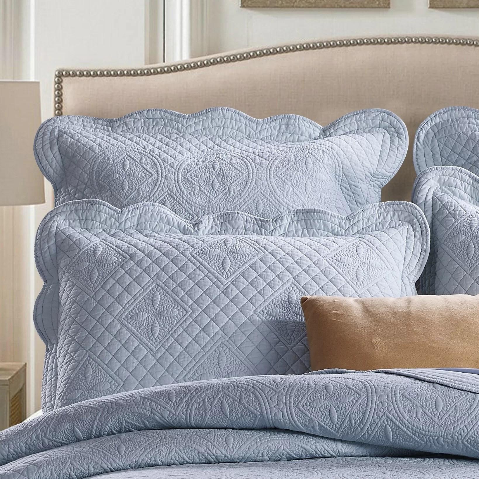 Sage Garden Luxury Quilted Pillow Sham eBay