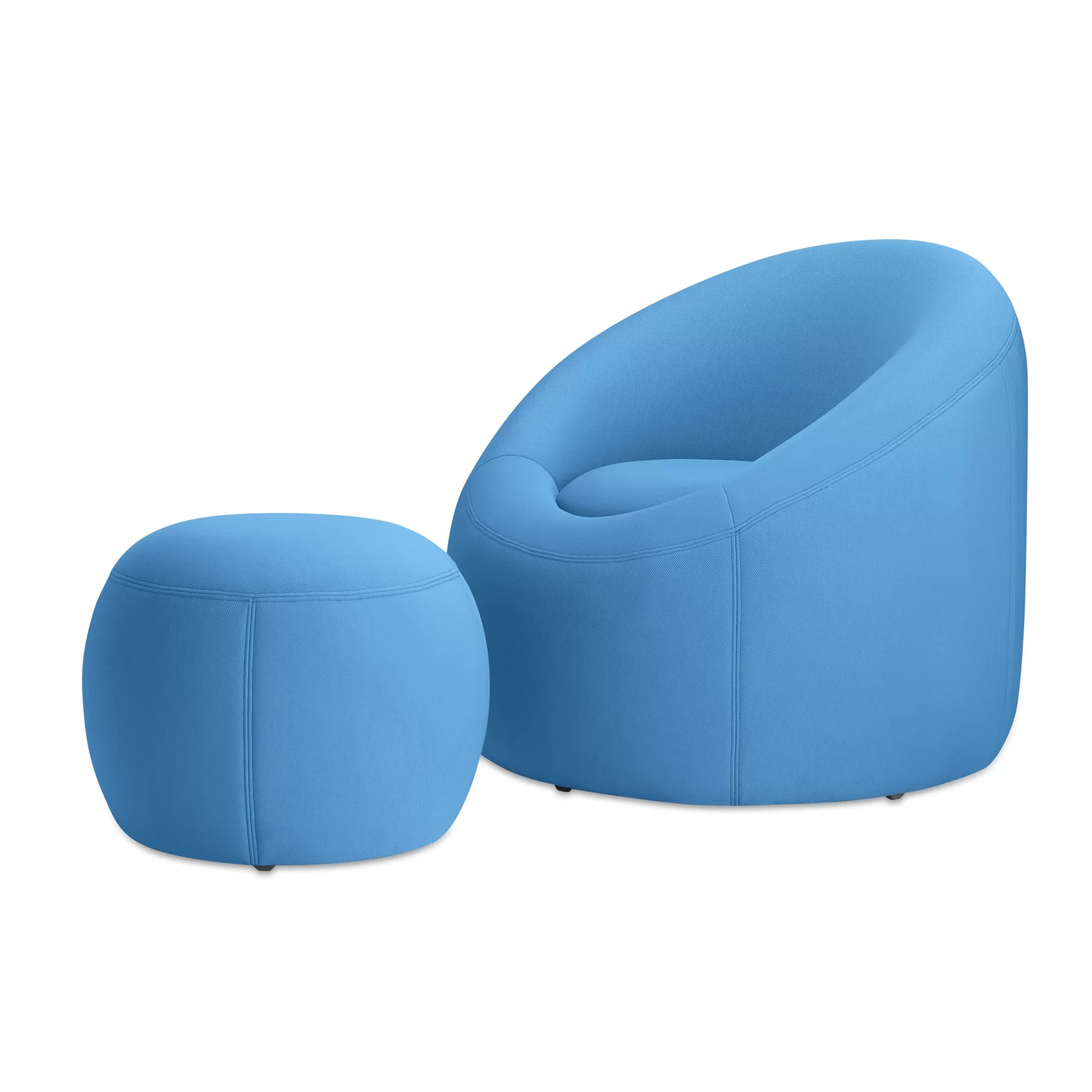OMO Modern Memory Foam Lounge Chair with Ottoman