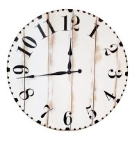 Oversized Distressed Wall Clock - Bestsciaticatreatments.com
