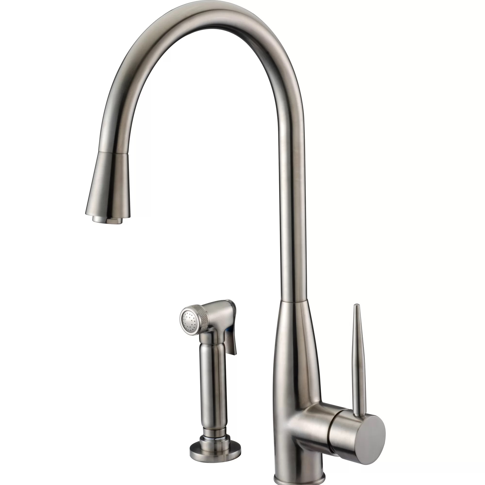 kitchen faucet with side spray laminate floors in dawn usa single handle deck mount
