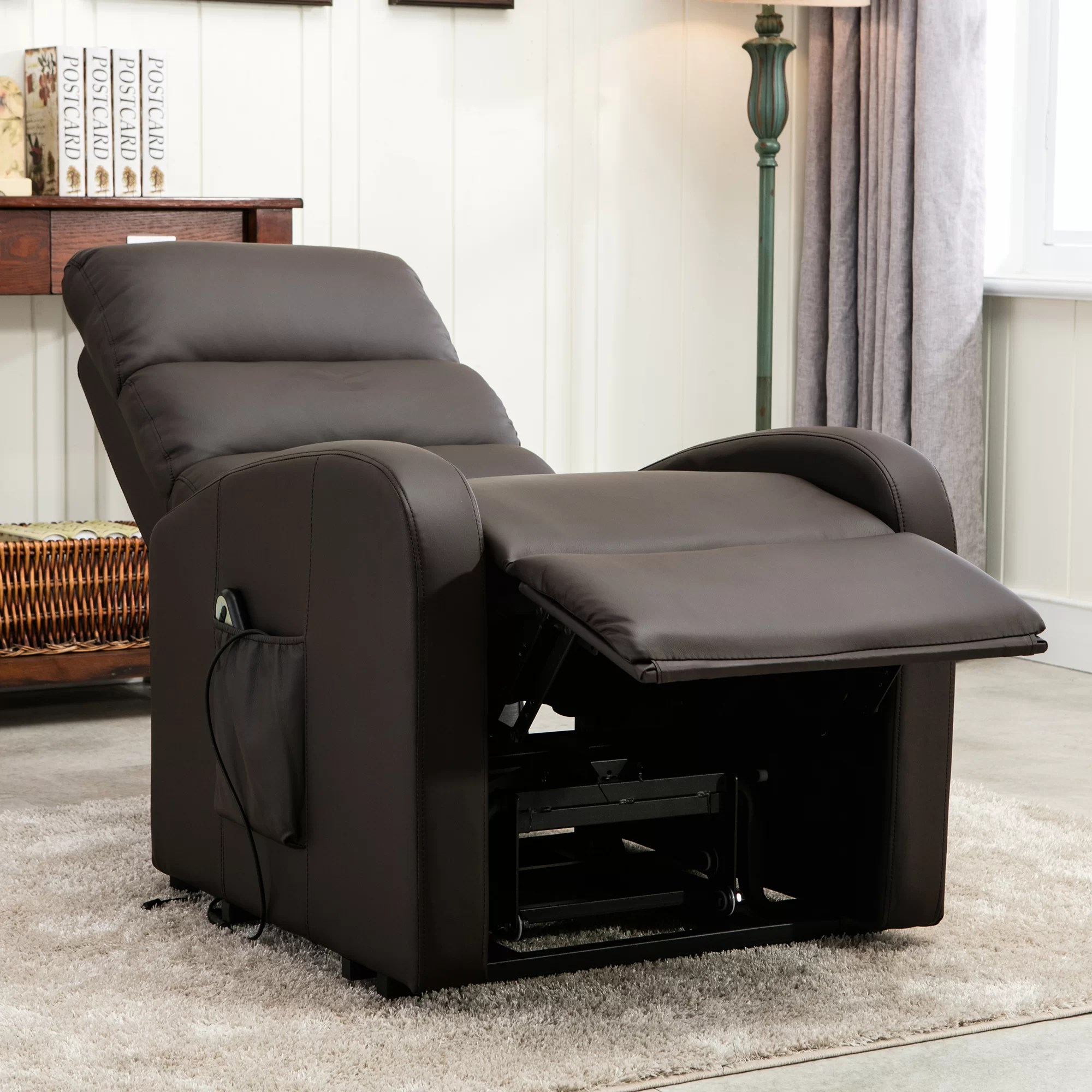 plush leather chair ashley and a half recliner classic bonded power large infinite position