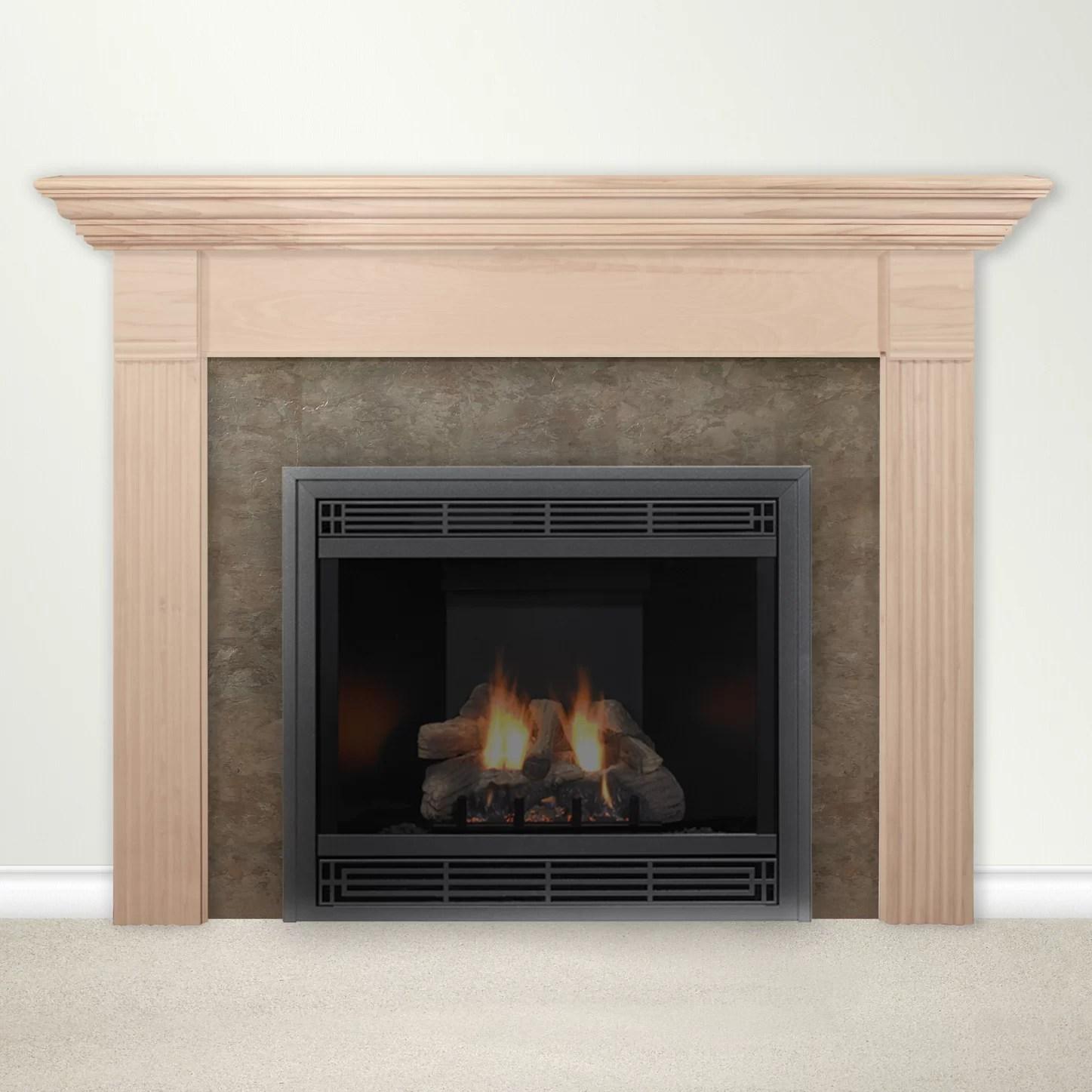 Housewarmer Fireplace Mantel Surround with Shelf  eBay