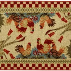 Rooster Kitchen Rugs Remodel Cheap Rugnur Cucina Checkered Cream/red Area Rug ...