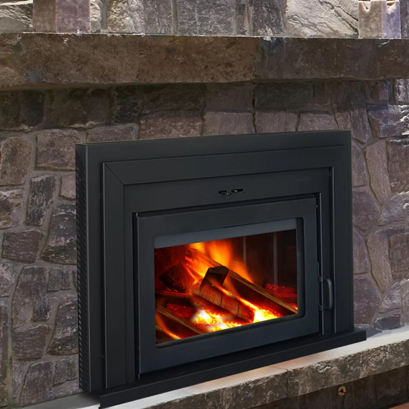 Supreme Fireplaces Inc Fusion Wall Mount Wood Burning Fireplace Insert  eBay