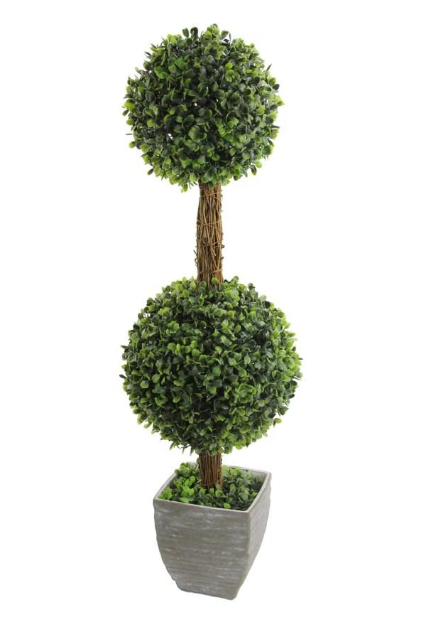 Double Ball Boxwood Topiary