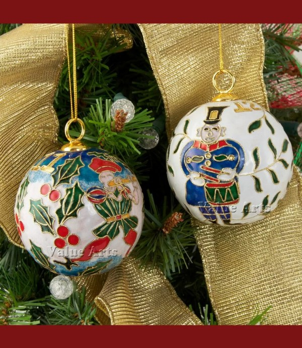 Arts Company Cloisonne 12 Days Of Christmas Ball Ornament Set