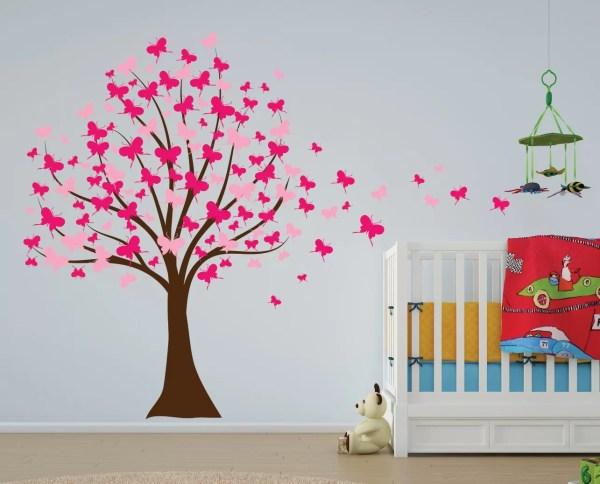 Innovative Stencils Butterfly Cherry Blossom Tree Baby ...