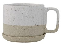 Bloomingville Barbara Coffee Mug with Saucer Set of 4