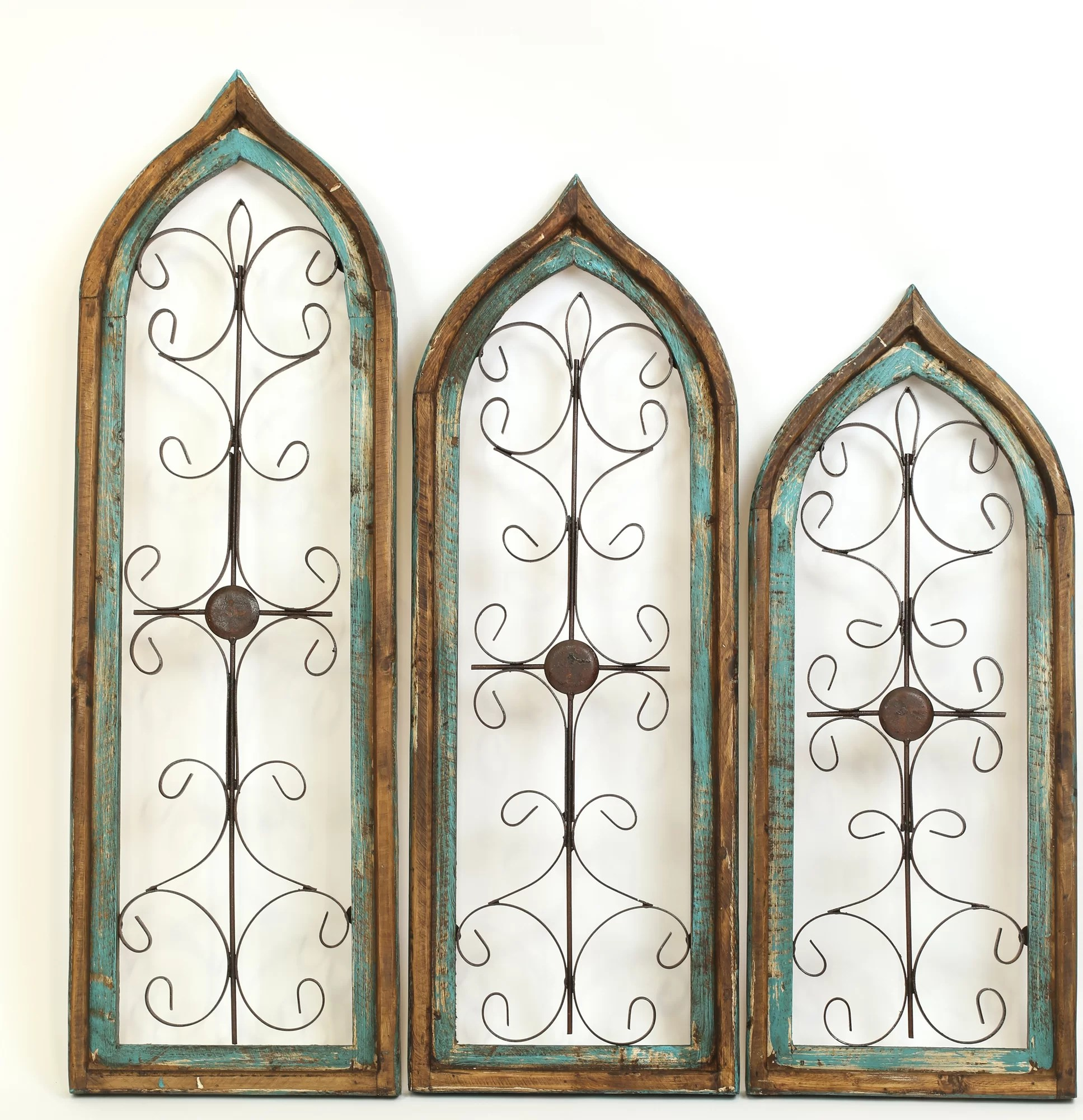 My Amigos Imports Gothic 3 Piece Architectural Window Wall
