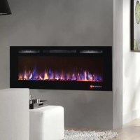 Gibson Living Bombay Crystal Wall Mount Electric Fireplace ...