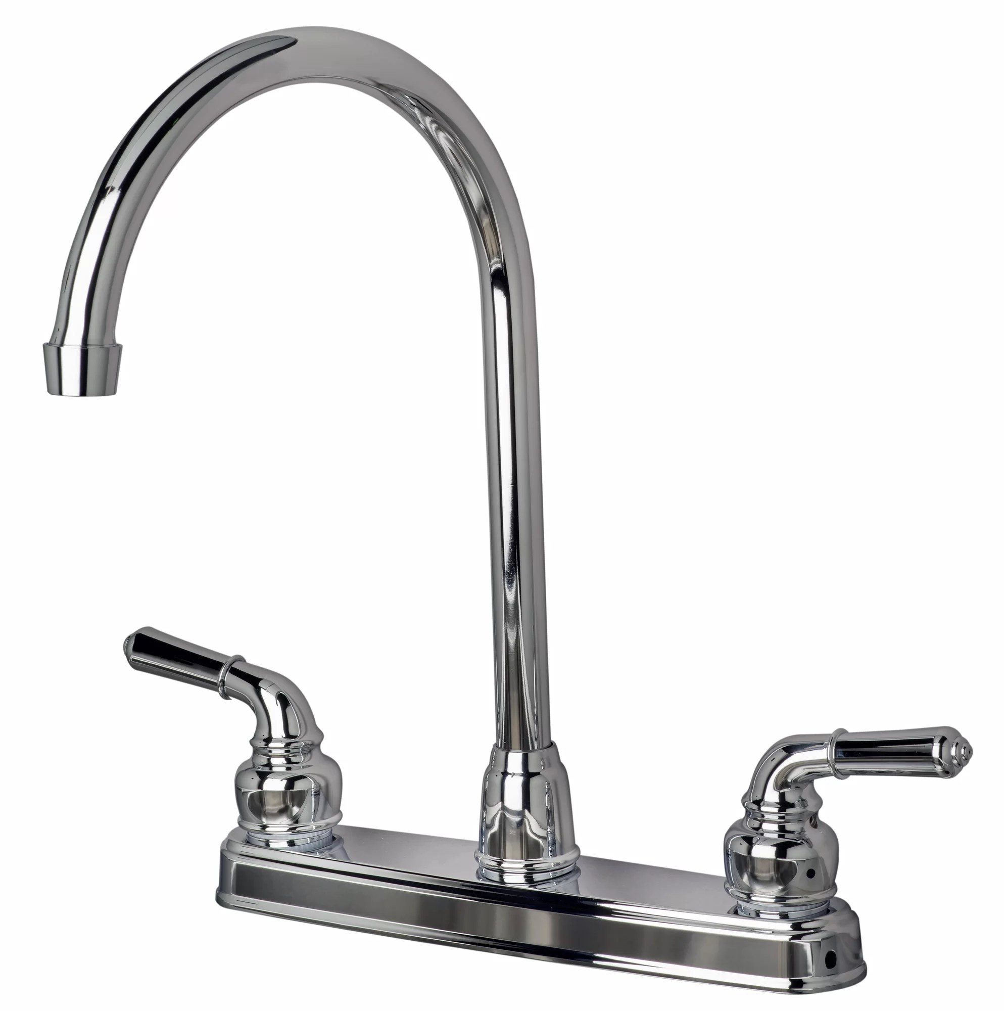 mobile home kitchen faucets granite kitchens builders shoppe rv double handle