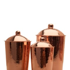 Three Piece Kitchen Sets Metal Cabinets For Sale Sertodo Copper Kumran 3 Canister Set Ebay