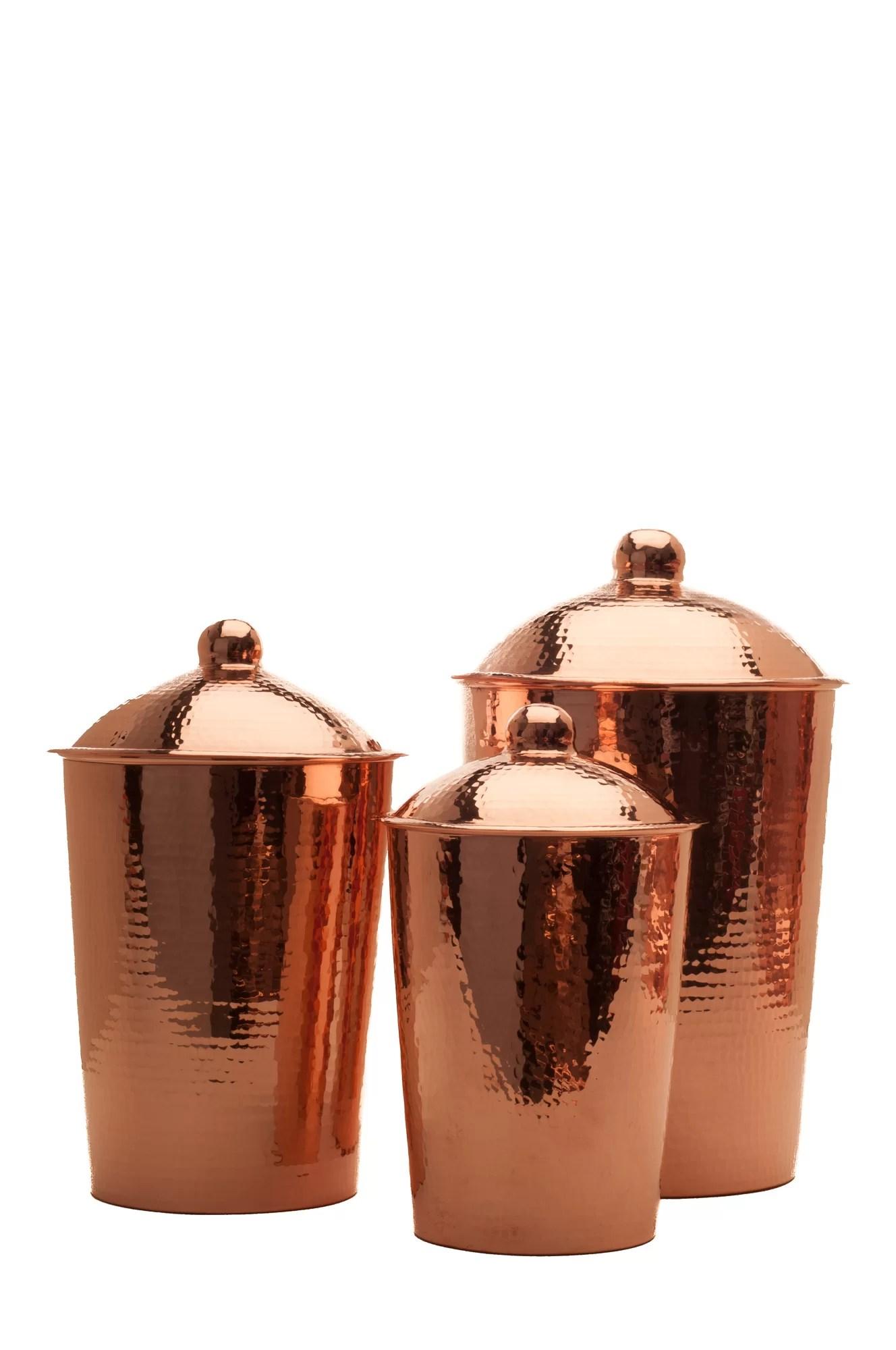 3 piece kitchen set trolley sertodo copper kumran canister ebay