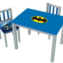 Batman Childrens Table And Chairs 0 Gravity O 39kids Inc Kids 39 3 Piece Rectangle Chair