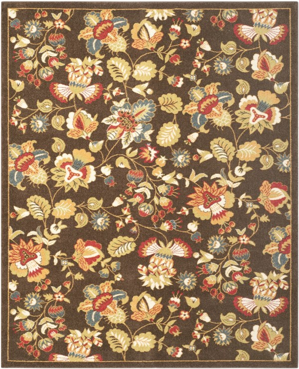 Safavieh Newport Brown Green Floral Area Rug