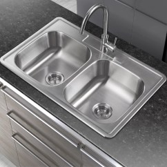 Drop In Kitchen Sinks Counter Height Table And Chairs Winpro 33 Quot X 22 Double Basin Sink