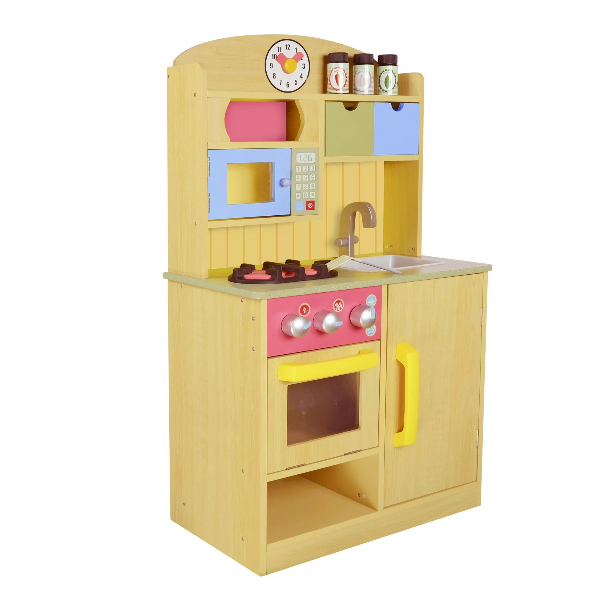 kids play kitchen accessories how to get rid of bugs in cupboards teamson little chef wooden with