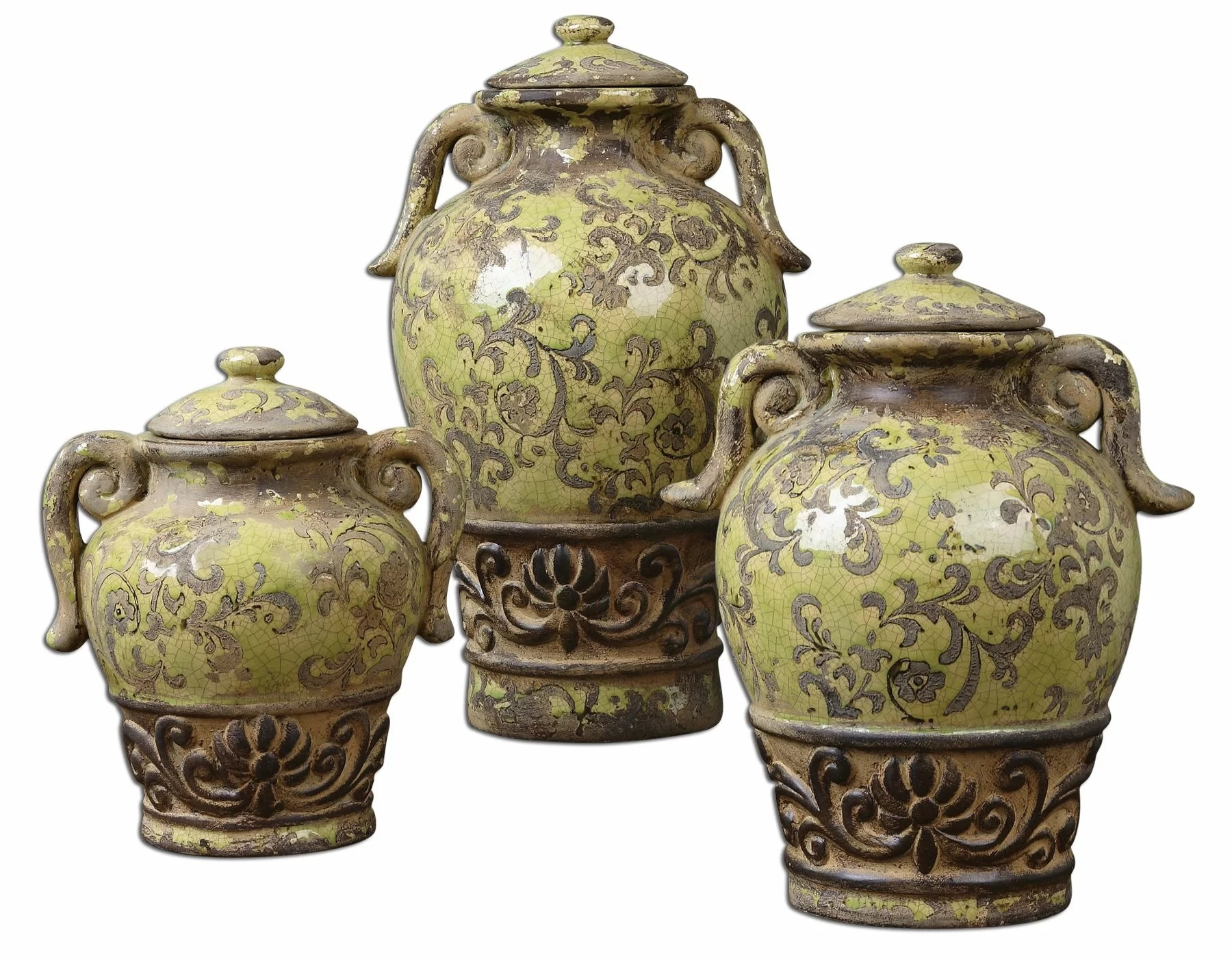 decorative kitchen canisters sets cabinet refinishing kit uttermost 3 piece gian canister set ebay