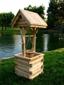 Outdoor Wishing Well Planters