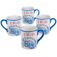 Certified International Beach House Kitchen Crab Mug Set