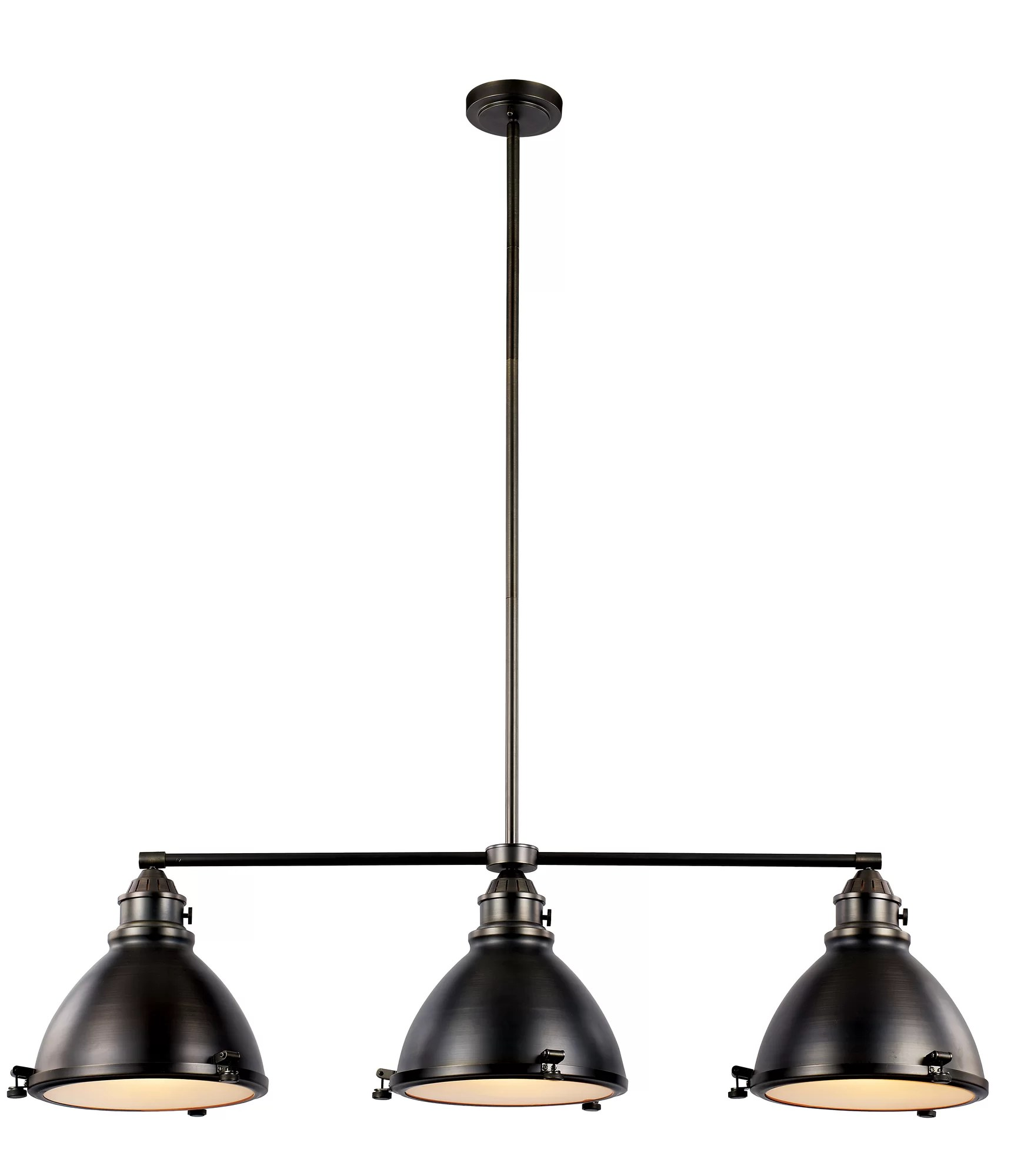 kitchen island pendant lights industrial sink transglobe lighting vintage 3 light