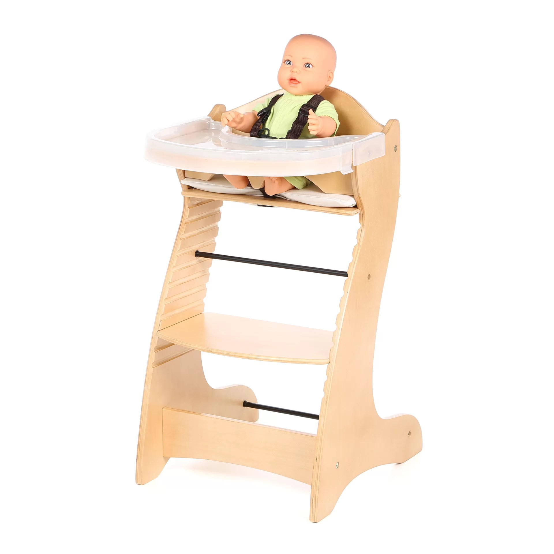 Badger High Chair Badger Basket Embassy Wood High Chair With Tray Ebay