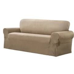 Sofa Box Cushion Covers Sure Fit Deluxe Pet Throw Maytex Conrad Stretch Slipcover Ebay