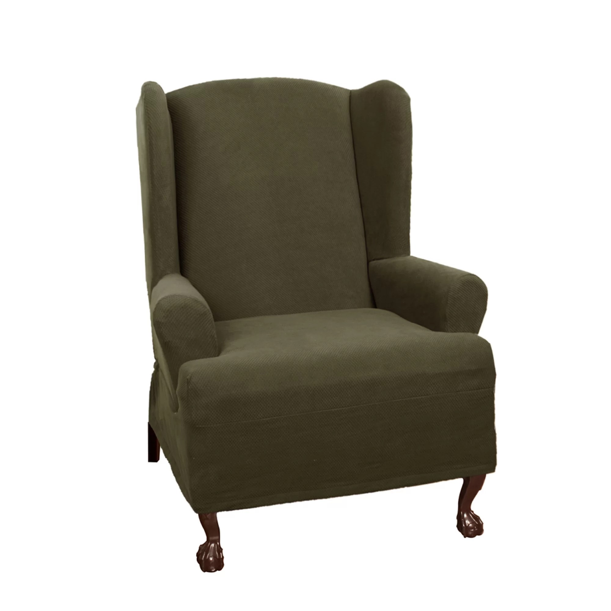 Wing Chair Slipcover Maytex Pixel Stretch Wing Chair T Cushion Slipcover Ebay