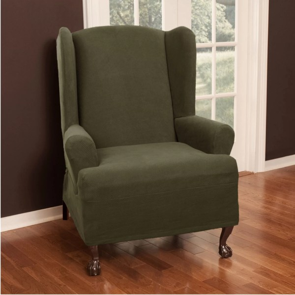 Back Wing Chair Slipcover T-Cushion