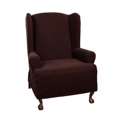 Wingback Chair Covers On Ebay By Sylwia Website Maytex Pixel Stretch Wing T Cushion Slipcover