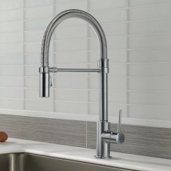 Kitchen Faucets Made In Usa Undermount Stainless Steel Sink Delta Trinsic Single Handle Pull Down Faucet With
