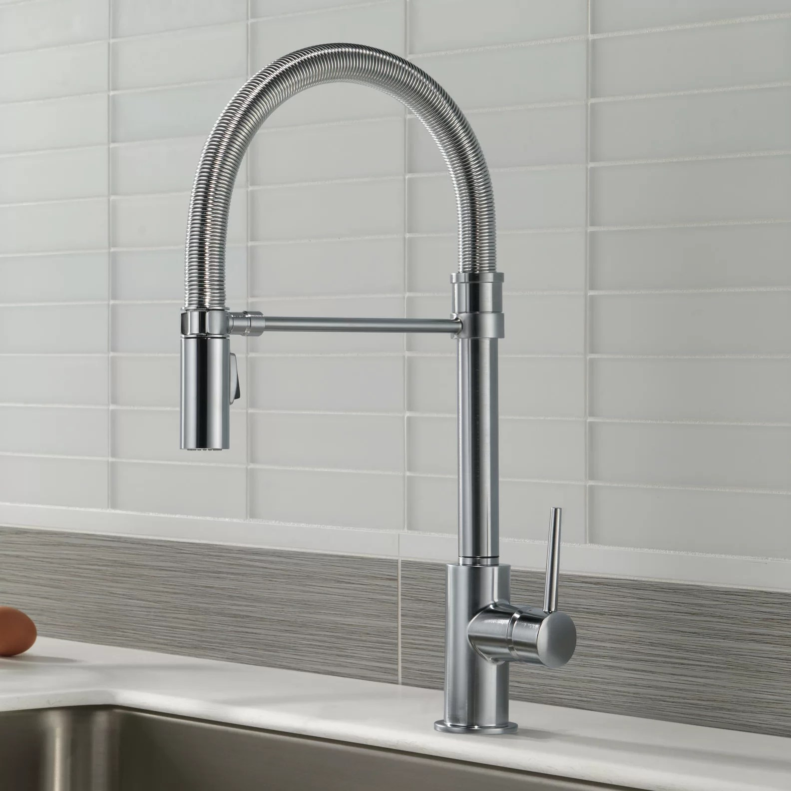 delta trinsic kitchen faucet cabinets unfinished single handle pull down with