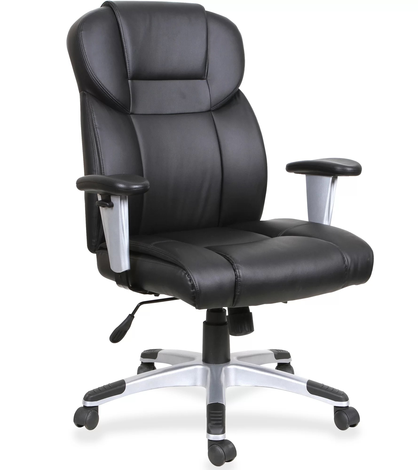 Genuine Leather Office Chair Lorell High Back Genuine Leather Executive Chair Ebay