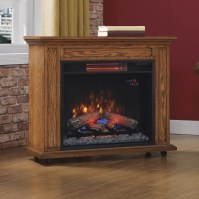 Duraflame Infrared Rolling Mantel Electric Fireplace | eBay