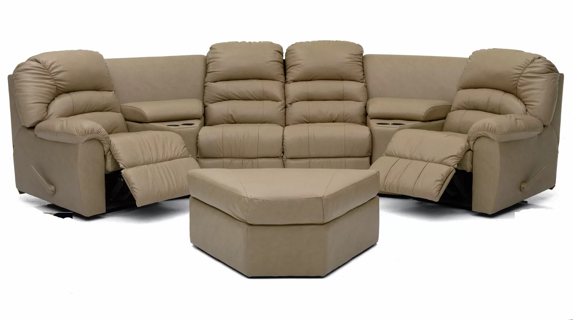lazy boy reclining sofa and loveseat half moon set recliners sale leather sectional couch