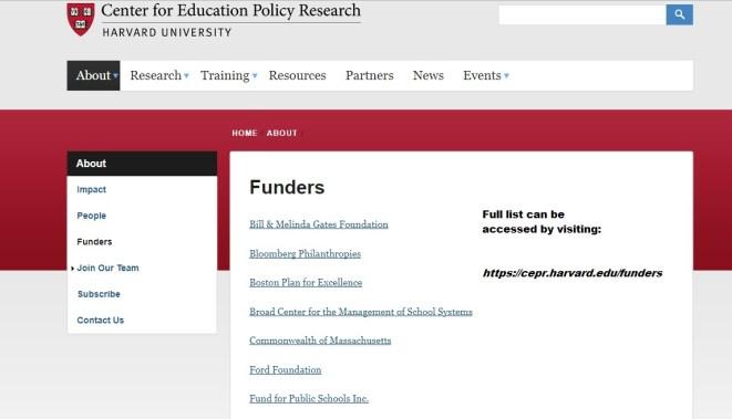 Harvardedfunders