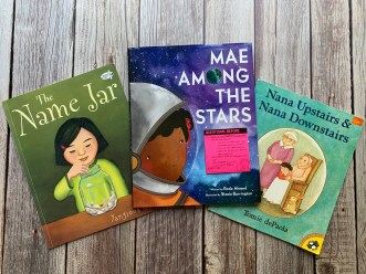 Picture of three mentor text literature books on a wooden table that are perfect for teaching ask and answer questions in literature