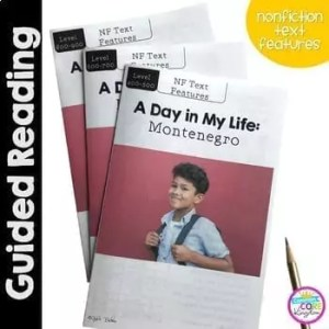 A Day in My Life- Montenegro- Differentiated Guided Reading (Text Features)1