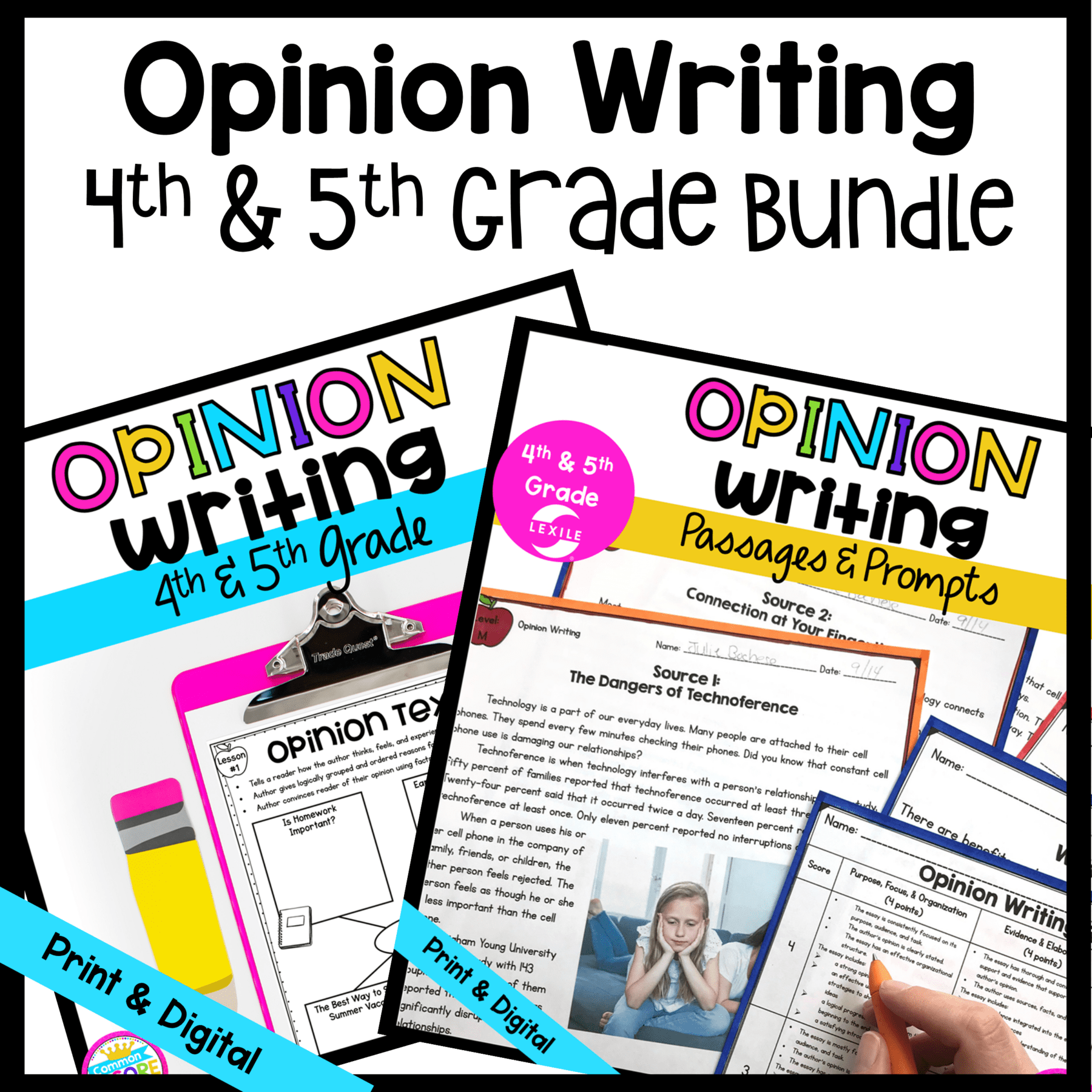 Opinion Writing Bundle with Google Slides Distance Learning 4th \u0026 5th Grade    Common Core Kingdom [ 1800 x 1800 Pixel ]